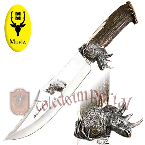 Cuchillo de lujo Rhino big five